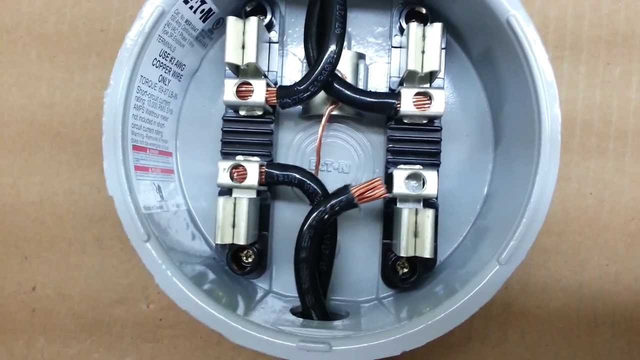 hialeah meter co  wiring diagram for single phase, fm 2s, 240v, 200 amp 3  wire electric meter - youtube