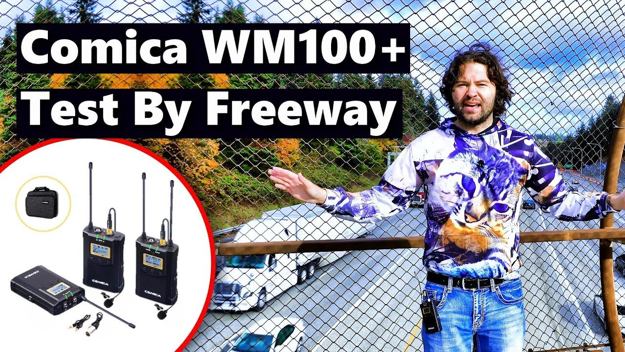 Comica CVM-WM100 Plus Review Wireless Microphone System Lavalier Lapel Mic Test by Freeway