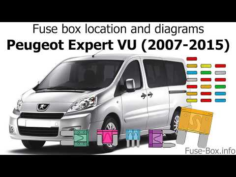 fuse box location and diagrams peugeot expert vu (2007 2015) youtube Peugeot Bipper Tepee