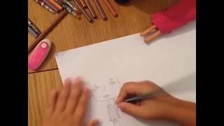 Как легко и быстро нарисовать девочку и мальчика. Видеоурок