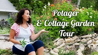 Summer Garden Tour | BEFORE & AFTER! | FRENCH FARMHOUSE | POTAGER | Cottage Garden