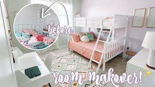 GIRLS BEDROOM MAKEOVER | BEFORE AND AFTER | MORE WITH MORROWS