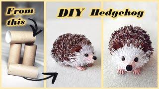 How to make paper HEDGEHOG | DIY toilet paper roll crafts