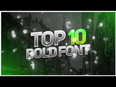 Top 10 Bold Font | Download Bold Font
