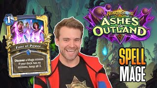 (Hearthstone) Spell Mage VS Highlander Paladin & Ramp Druid - Ashes of Outland