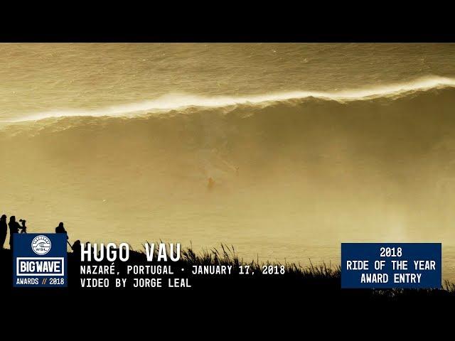 Un surfista corona una ola de 35 metros
