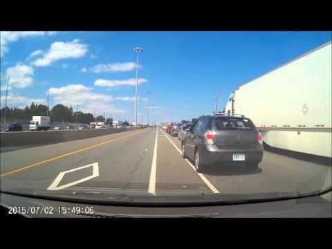 Dash Cam: QEW Toronto Accident