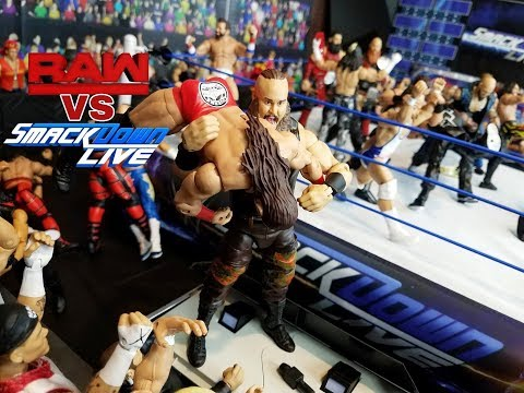 WWE ACTION FIGURE SET UP SMACKDOWN VS RAW EDITION