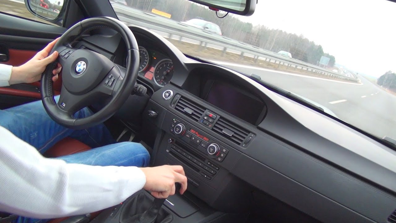 Bmw m3 e92 shift down acceleration sound onboard co driver view pov autobahn autostrada youtube