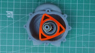 Compressed Air Triangular Engine - Wankel Rotary (3D Printed)