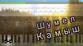 Шумел Камыш (на пианино Synthesia cover) Ноты и MIDI