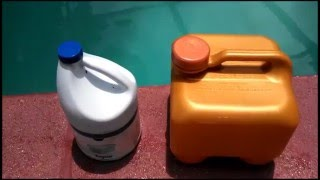 Liquid Swimming Pool Chlorine & Bleach Compared