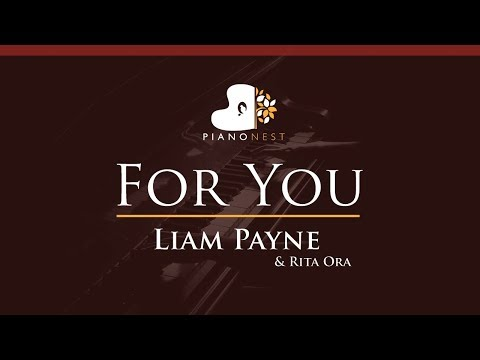 Liam Payne & Rita Ora - For You - HIGHER Key (Piano Karaoke / Sing Along)