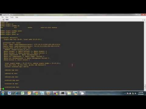 IPSEC VPN configuration on routers using GNS3