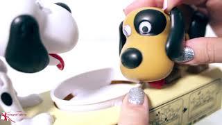 Интерактивная копилка «Две собаки едят монеты»