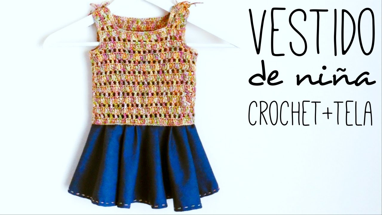 VESTIDO DE NIÑA a crochet - 0 a 10 años | How to crochet a girls ...
