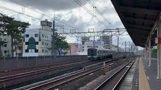 JR西千葉駅を通過するE131系3133M回送列車(千マリR08編成)。