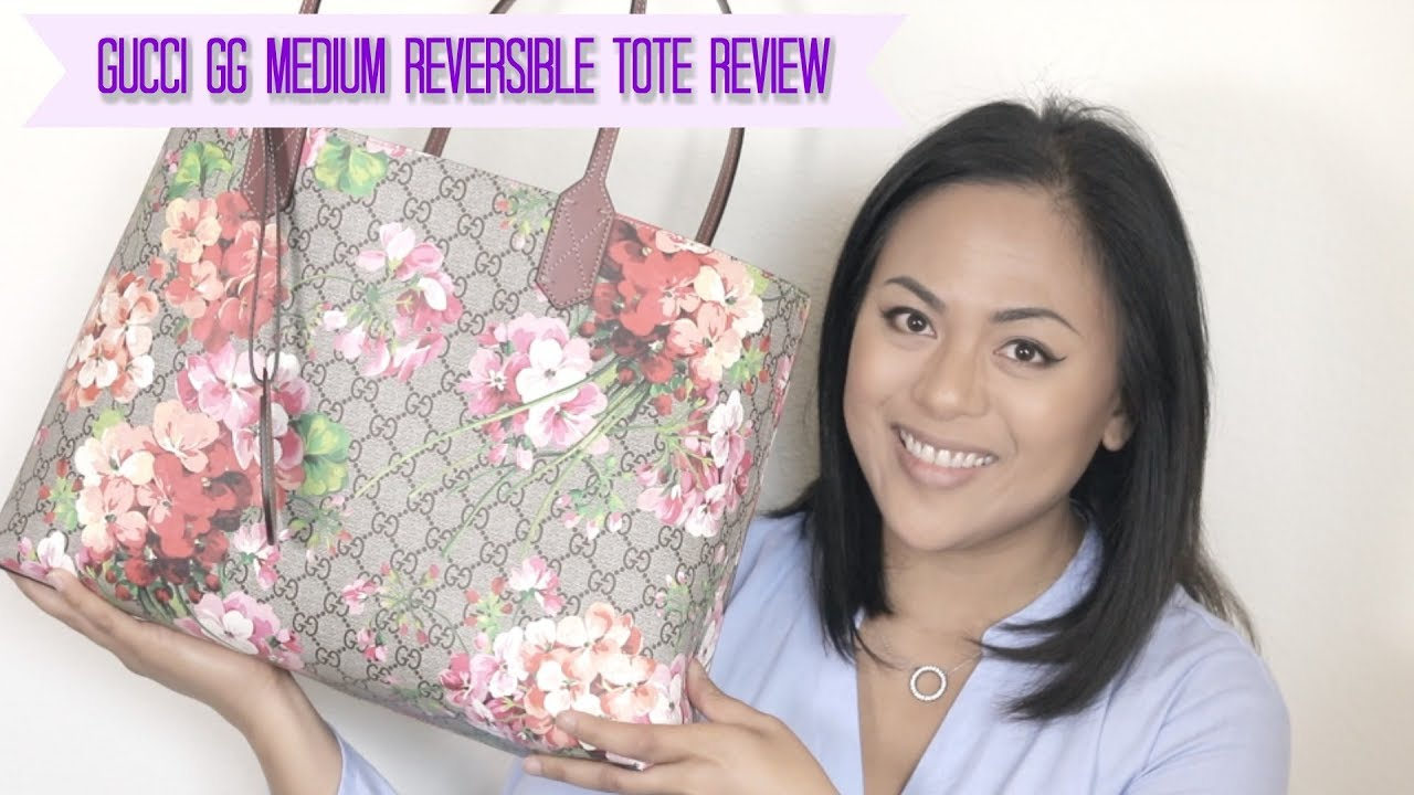 c6c5d48f3ec3 Gucci Reversible GG Medium Tote Review - YouTube