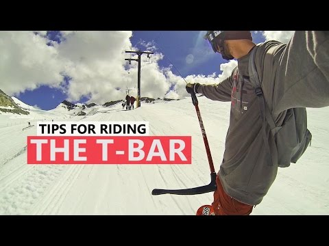How to Ride the T-Bar - Beginner Snowboard Tips