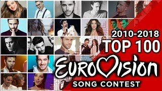 MY TOP 100 EUROVISION SONGS // 2010 - 2018