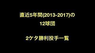 プロ野球 直近5年間(2013-2017)の12球団 2ケタ勝利投手一覧 2013 パ・リ...
