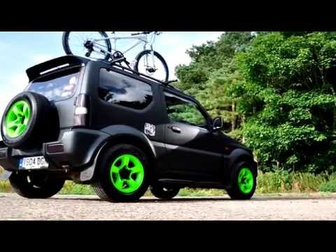 Suzuki Jimny Matt Black Respray With Monster Green Wheels