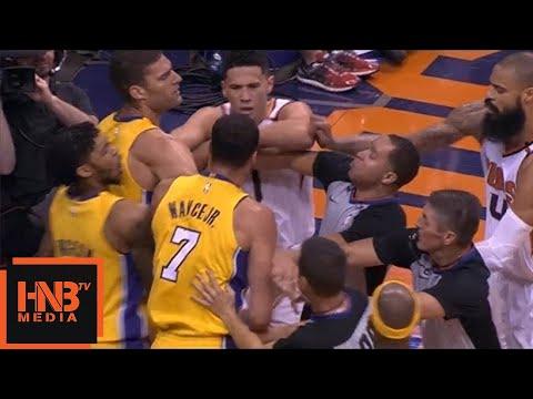 LA Lakers vs Phoenix Suns Scuffle
