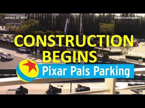 Disneyland - 1/23/18 New Parking Structure - Construction/Drilling Begins?