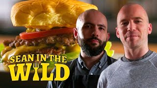 Binging with Babish Cooks the Perfect Smashed Burger | Sean in the Wild thumbnail