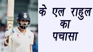 India vs Australia 3rd test match: KL Rahul hits 50 as hosts score 73/0 | वनइंडिया हिन्दी