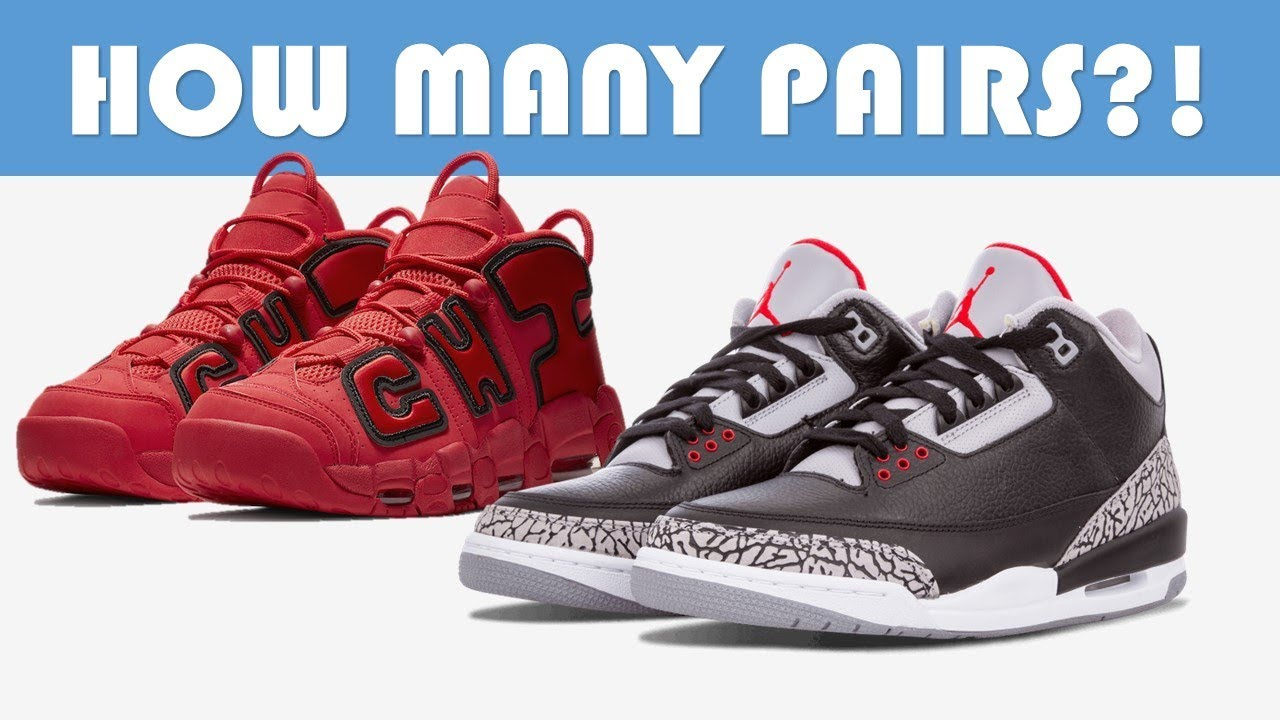 BLACK CEMENT 3, NIKE AIR MORE UPTEMPO CITY PACK, JORDAN PRODUCTION CUTBACK  & MORE!!