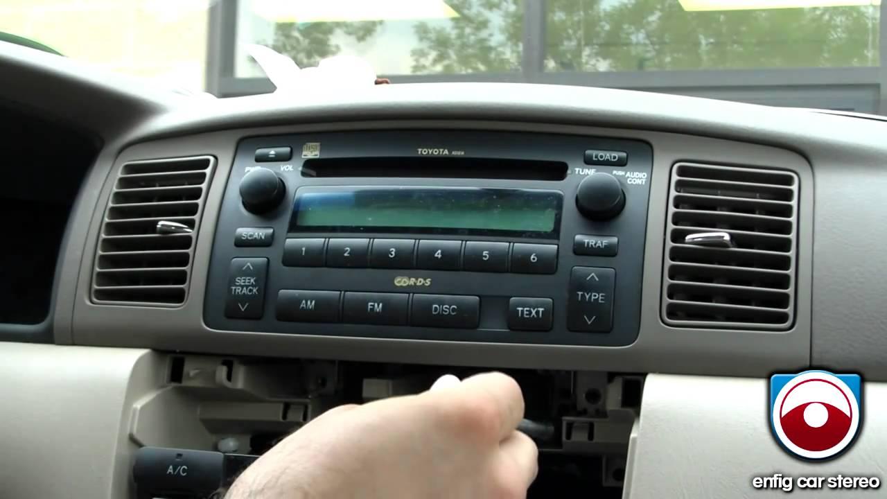 Manuel 2004 Toyota Corolla Fuse Box Diagram Radio Removal Toyota Corolla 2003 2008 Youtube