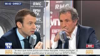 Emmanuel Macron face à Bourdin direct