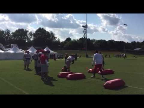 Georgia defensive line on 3rd day of fall camp