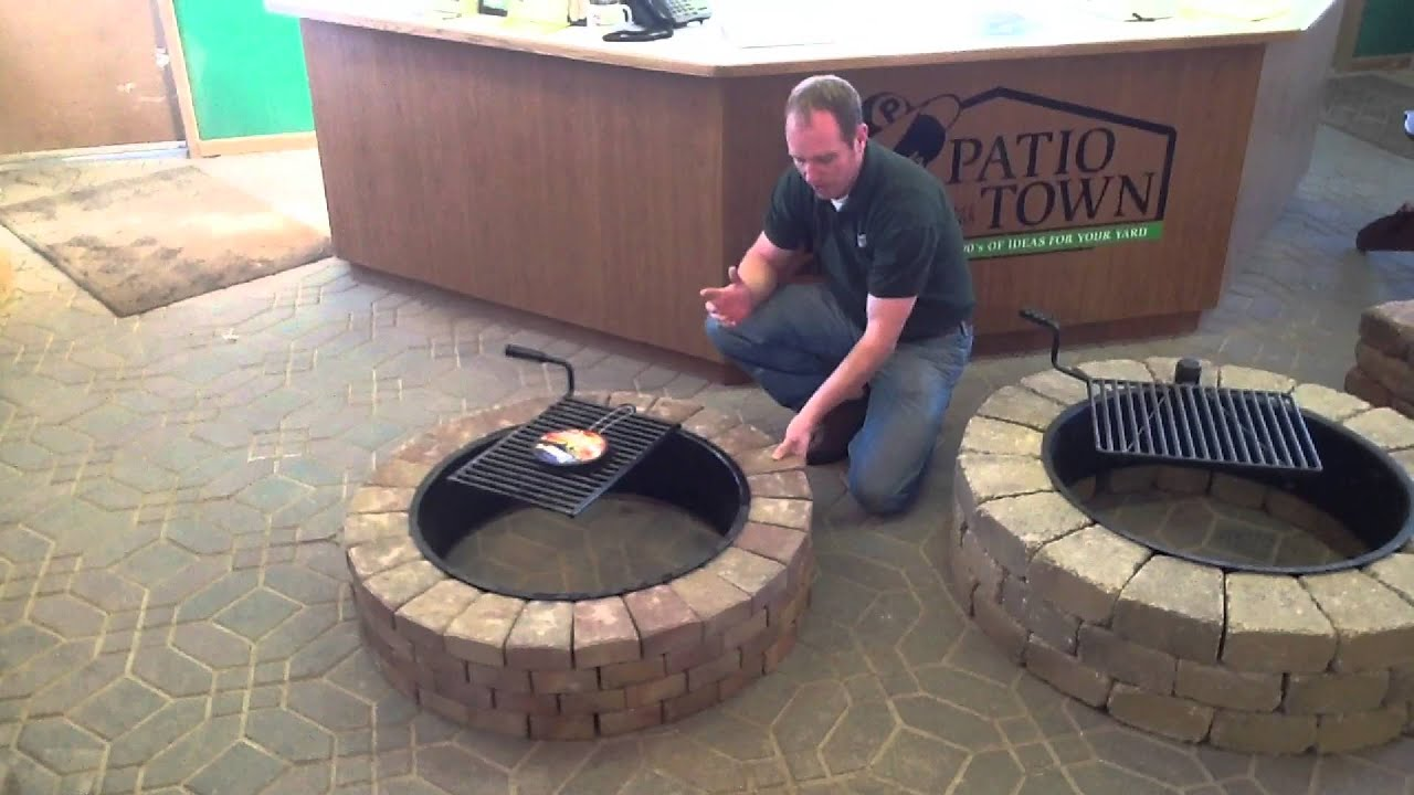 Ledgestone Fire Pit Kit Youtube