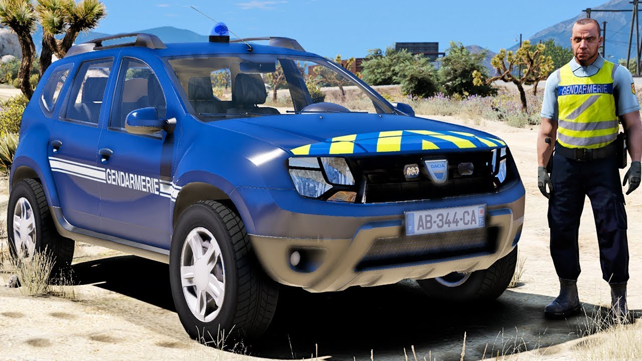 gta mods lspdfr patrouille en dacia duster gendarmerie nationale 9 youtube. Black Bedroom Furniture Sets. Home Design Ideas