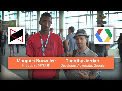 MKBHD and Google Developer Advocate Timothy Jordan tour I/O