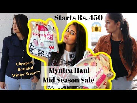 [VIDEO] - HUGE MYNTRA WINTER WEAR HAUL | Myntra Shopping Haul | Winter Wear Clothes Haul | Myntra Winter Wear 8