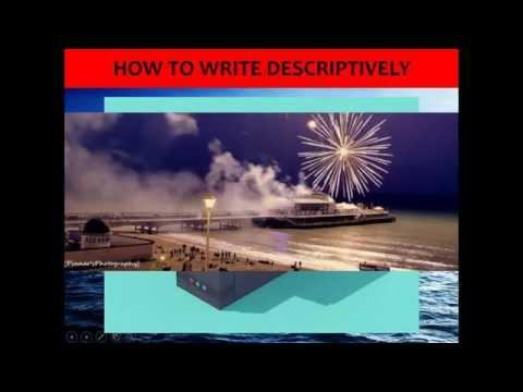 A* Descriptive Writing example podcast - GCSE English