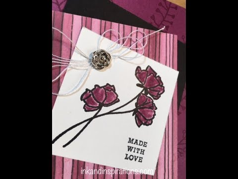 Stampin Up Card Idea With New Product Youtube