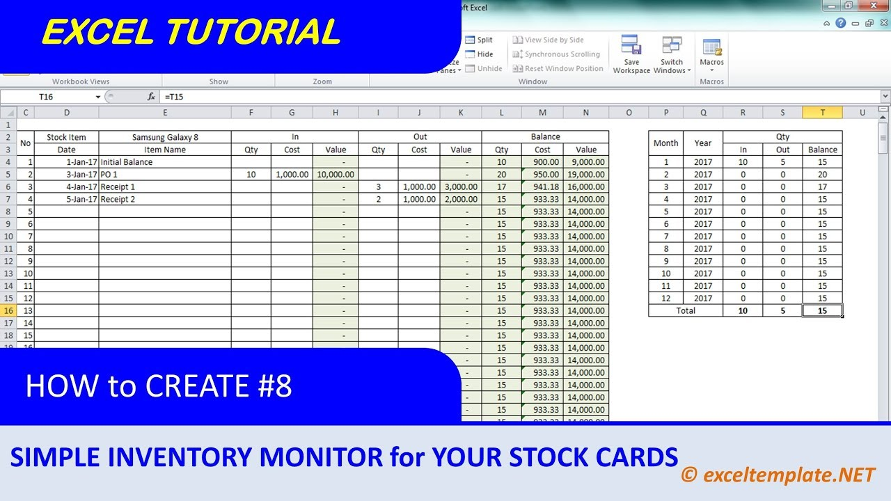 How To Create Inventory Monitoring System For Stock Cards Youtube