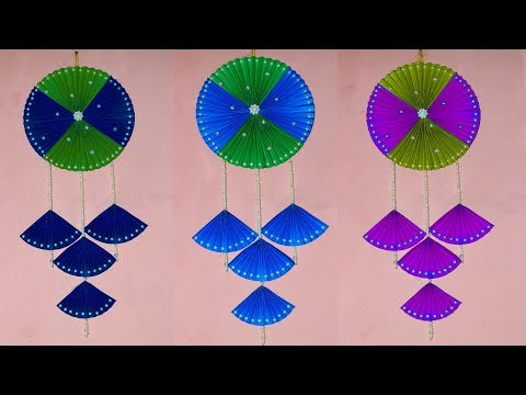 Wall decoration idea | DIY - Wall hanging craft ideas with color paper