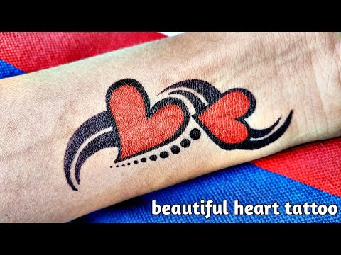 How To Draw Beautiful Heart Tattoo By Trickby Tattoo By Kk