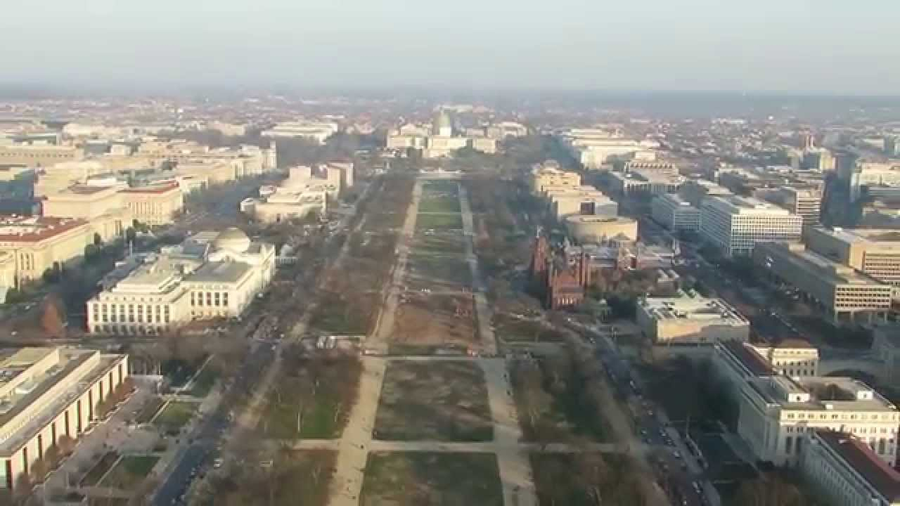 Washington Monument Observatory - View to the East (Mall, Capitol) - Dec   21, 2014