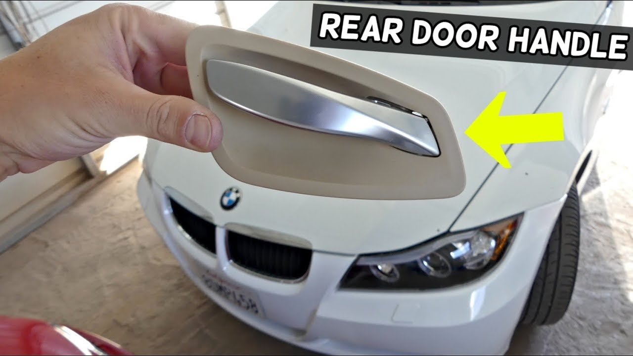 How To Remove And Replace Rear Interior Door Handle On Bmw E90 E91 Youtube