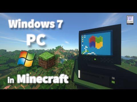 Windows 7 PC In Minecraft