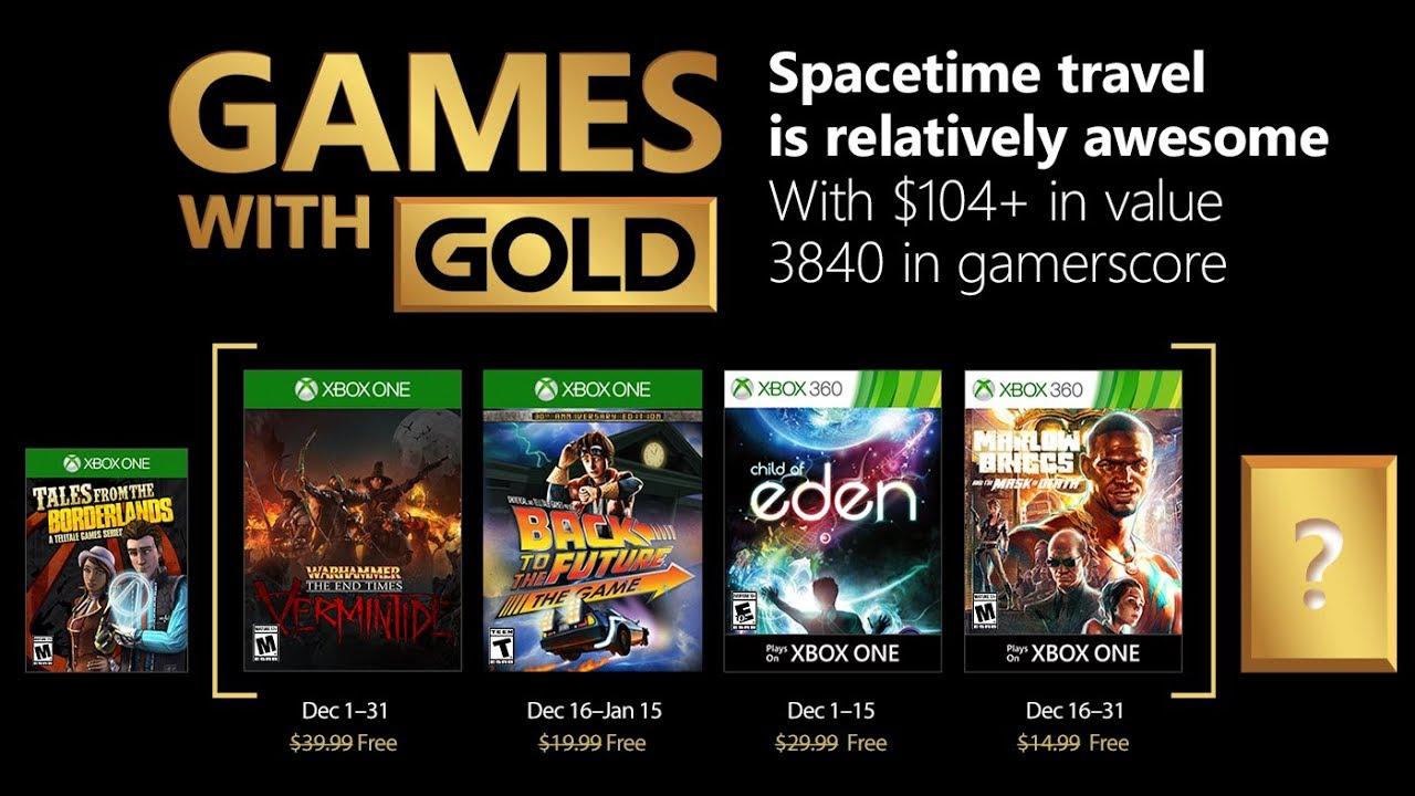 Juegos Con Gold Xbox One Y Xbox 360 Diciembre 2017 Youtube
