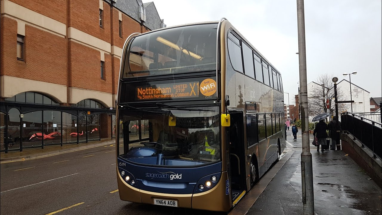 Brand New Service Route X1 Yn64aob 15191 Stagecoach Chesterfield Scania N230ud Adl Enviro 400 Youtube