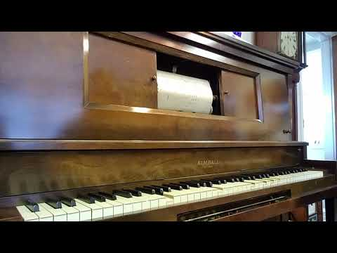 """1929 W. W. Kimball Player Piano Plays International Word Roll 93802, """"Lucky In Love."""""""