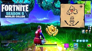 Follow the Treasure Map Found in Dusty Divot Guide - Fortnite Battle Royale Season 5 - Week 7